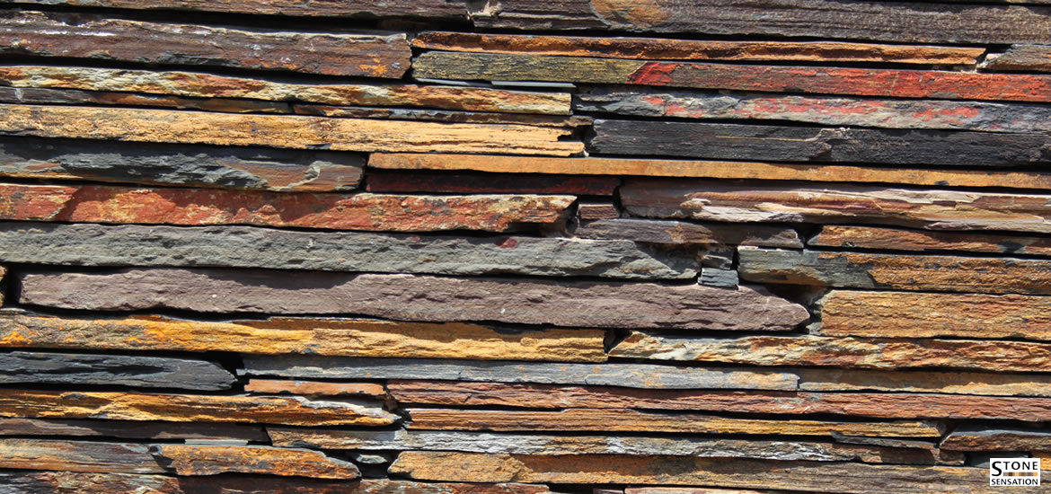Slate Cladding – Strip Walling